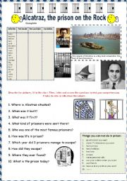 English Worksheet: Listening - Alcatraz the prison on the rock. + key + tape script