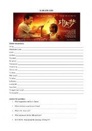 Karate Kid movie worksheet