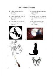 English Worksheet: Halloween activities (4th grade)