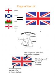 English Worksheet: United Kingdom Flag - meaning and color