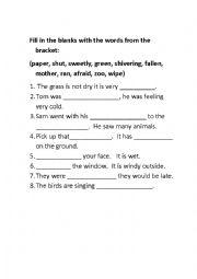 English Worksheet: fun way to learn english