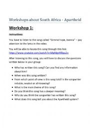 english worksheets south africa apartheid workshops. Black Bedroom Furniture Sets. Home Design Ideas