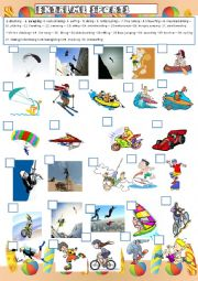 English Worksheet: Extreme sports plus activities