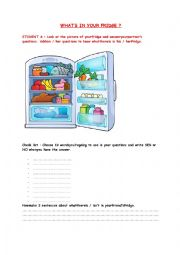 English Worksheet: WHAT�S IN YOUR FRIDGE?