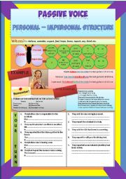 Passive Voice Personal & Impersonal Structure