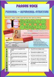 personal impersonal passive voice exercises pdf