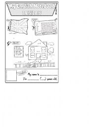English Worksheet: Notebook cover 2