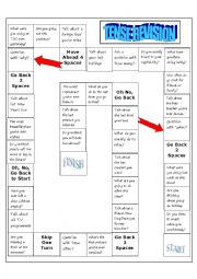 English Worksheet: board game tenses review