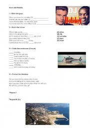 English Worksheet: DJ Antoine feat Akon - Holiday