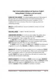 English Worksheet: HIGH INTERMEDIATE TO ADVANCED BUSINESS ENGLISH - GOING GLOBAL 2 - LESSON 2 OF 2