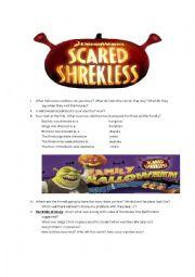 English worksheet: Scared Shrekless Halloween movie