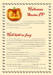 English Worksheet: Halloween Stories - Part IV Mixed Bag Exercise