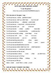 Printables Anti Bullying Worksheets anti bullying worksheet davezan worksheets davezan