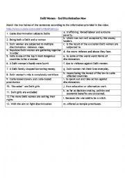 English Worksheet: Dalit women