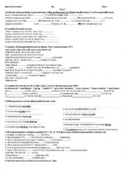 English Worksheet: simpe Present -Adverbs of Frequency-free time activities