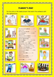 English Worksheet: Danny�s day