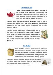 The Story of Tea Reading Comprehension