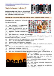 English Worksheet: Halloween-Related Video: Why Halloween Is Really British