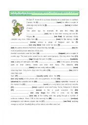 English Worksheet: Present, Past & Present Perfect - Simple & Progressive (3)