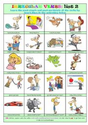Irregular Verbs List 2