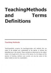English Worksheet: teaching methods