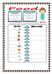 English Worksheet: How much or How many? - speaking practice