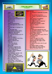 English Worksheet: Crime, law, justice