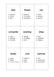 English Worksheet: Tabu Game