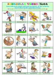 Irregular Verbs List 4