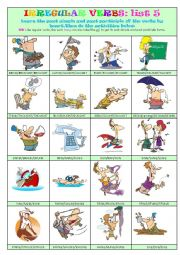 Irregular Verbs List 5