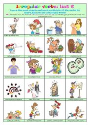 Irregular Verbs List 6