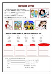 English Worksheet: Regular Verbs