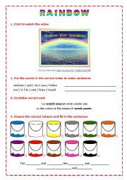English Worksheet: Rainbow