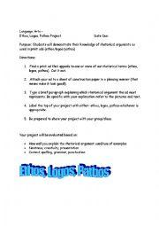 English worksheets: Ethos, Pathos, Logos