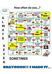 ADVERBS OF FREQUENCY - BOARD GAME