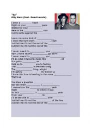 English Worksheet: Up - Olly Murs and Demi Lovato