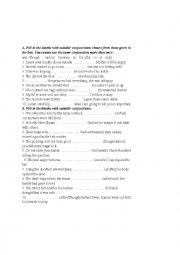 English Worksheet: conjunction test