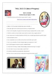 English Worksheet: Surrogacy (idea of progress) listening comprehension