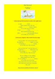 English Worksheet: Sailing by Rod Stewart (a song worksheet)