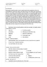 English Worksheet: home remedies