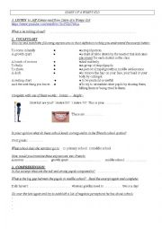 English Worksheet: A DIARY OF A WIMPY KID