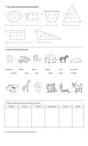 English Worksheet: Animals� habitats