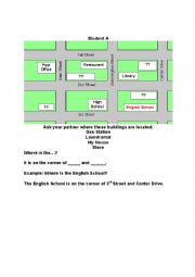 English Worksheet: Map Information Gap