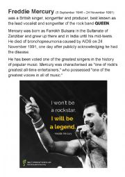 Freddie Mercury and QUEEN - English with music ROCK