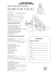 English Worksheet: Under the Bridge - Red Hot Chilli Peppers