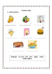 English worksheet: My Favorite Food with Victorious TV Show