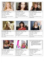 Celebrities Role Play Cards part 2