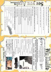 English Worksheet: SEE YOU AGAIN - BY WIZ KHALIFA