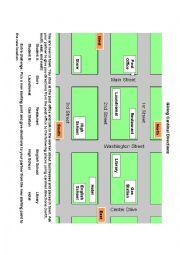 English Worksheet: Map Giving Cardinal Directions