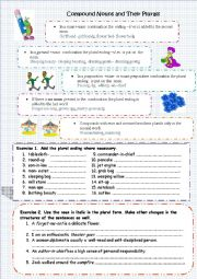 English worksheet: Compound Nouns and their Plurals